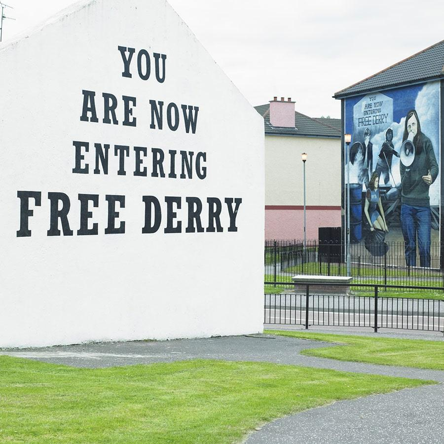 derry londonderry northern ireland free troubles holiday